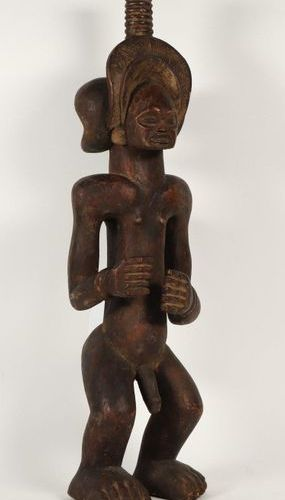 [Tribal art. Africa]. Chibinda Ilunga, Chokwe, Angola. Carved wooden sculpture, …