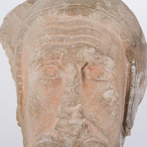 """Saint´s head"". Sculpted, polychromed stone. Romanesque.  13th century. ""Saint´s…"
