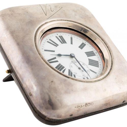 Orologio da tasca svizzero in metallo argentato con quadrante in porcellana, num…
