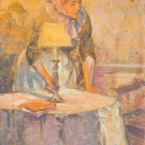 "LUIS RAMOS ROSAS (Málaga, 1903 1965) S/T Olio su pannello 25 x 18 cm Firmato: ""L…"