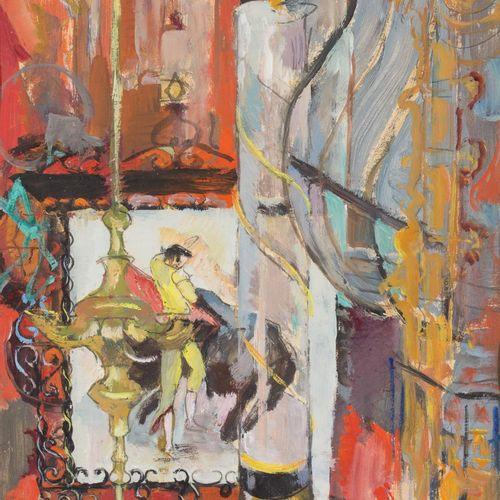 FLORY ROLAND (Liège, 1905 1978) El altar del torero Gouache su cartone 35 x 35 c…