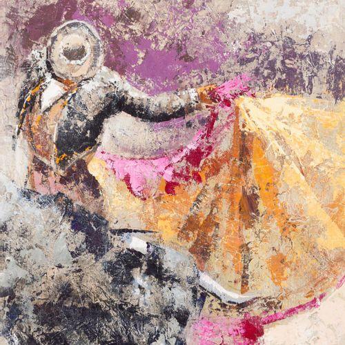 Javier Torices (Madrid, 1968) Pase de toreo Olio su tela 55 x 46 cm Firmato in b…