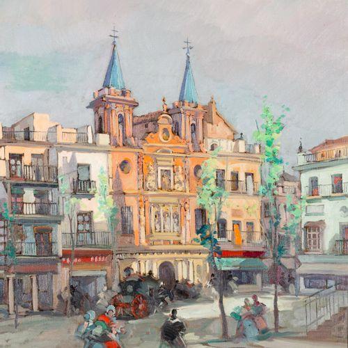 MANUEL CORRALES EGEA (Santa Cruz de Tenerife, 1910 Vigo, 1985) Plaza del Sal Sal…