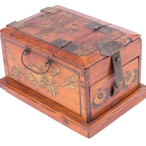 Tavolino da toilette da viaggio da donna in legno laccato, Ff. S. XIX. 15,5 x 30…