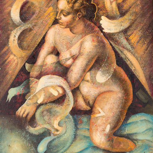 JOSÉ DÍAZ OLIVA (Nerva, Huelva, 1938 Málaga, 2001) Mirror, LVII Olio su táblex 4…