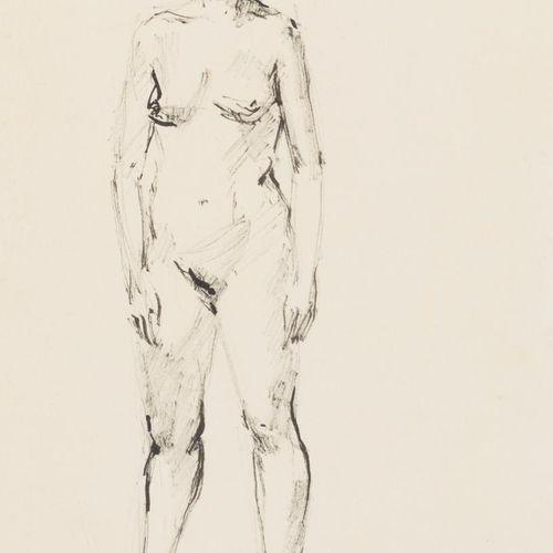 ANTONIO RODRÍGUEZ ALMANSA Lotto di due schizzi di nudo Disegno a inchiostro su c…