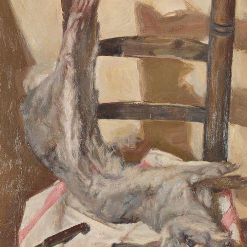 BALDOMERO ROMERO RESSENDI (Sevilla, 1922 Madrid, 1977) Coniglio Olio su tela 73 …