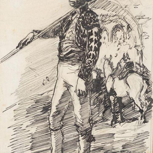 FRANCISCO HOHENLEITER DE CASTRO (Cádiz, 1899 Sevilla, 1968) Picador Disegno a pe…