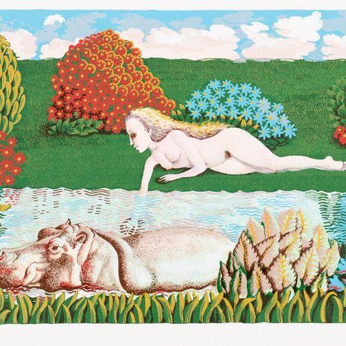 ISABEL VILLAR (Salamanca, 1934) El hipopótamo Serigrafia 24 x 34,5 cm Serigrafia…