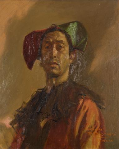 BALDOMERO ROMERO RESSENDI (Sevilla, 1922 Madrid, 1977) Autoritratto Olio su tela…