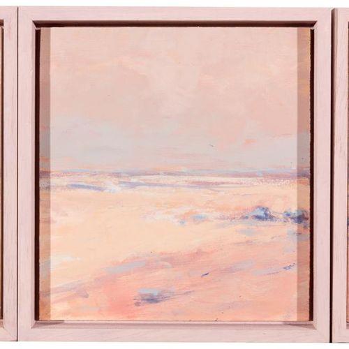 JOSÉ SOLERA MADRID Paesaggio (trittico) Olio su tavola 25 x 48 cm Firmato nell'a…