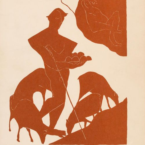 HENRI LAURENS (París, 1885 1954) Les Idylles Cromolitografia 30 x 23 cm Parigi, …