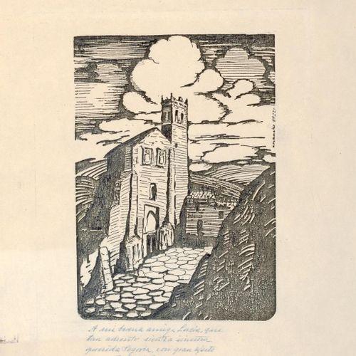 RAFAEL PEÑUELAS (Santa Cruz de Tenerife, 1901 2000) Segovia Incisione 25 x 20 cm…
