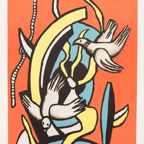 FERNAND LÉGER (Francia, 1881 1955) Due piccioni Litografia su carta Rives 62 x 4…