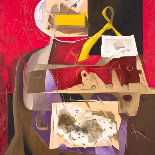 JAIME GARAY (España, 1953) Tie Olio su tela 116 x 90 cm Firmato e datato 1992.