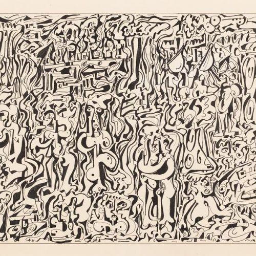 NÖEL MARTINETTI (S. XX) Composizione di figure Disegno a inchiostro su carta 35 …