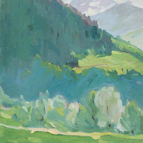 EDMOND HENRI ZEIGER DE BAUGY (1895 1994) Beaufort (Savoia) Olio su tela 31 x 27 …