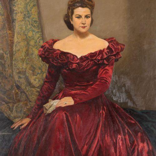 ALFONSO GROSSO (Sevilla, 1893 1983) Ritratto di Doña María Teresa Almendro Pache…