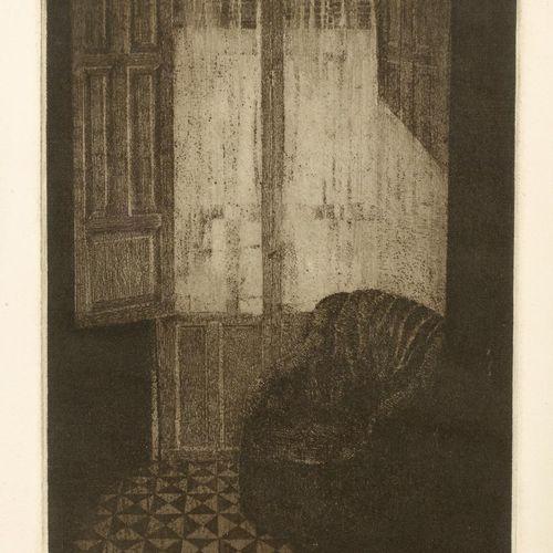 FRANCISCO CUADRADO (Sevilla, 1939) Interno con finestra Incisione Totale 38 x 49…