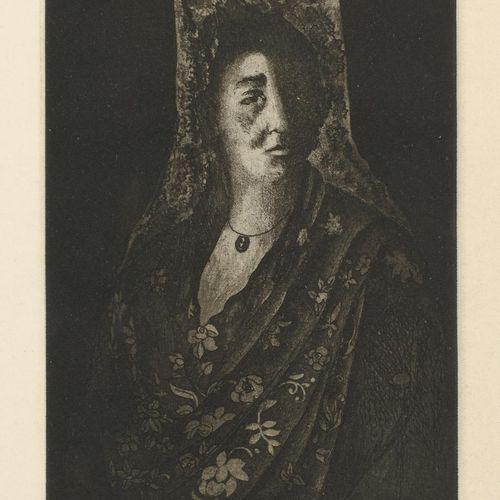 FRANCISCO CUADRADO (Sevilla, 1939) Mujer con mantilla Incisione Totale 49 x 37 c…