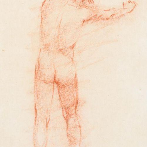 ANTONIO RODRÍGUEZ ALMANSA Schizzo di nudo Sanguina su carta 31 x 21 cm Firmato