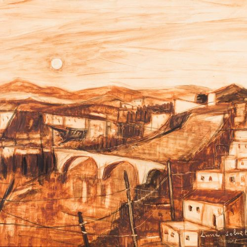 JUAN BERNABÉ BRITTO (Las Cabezas de San Juan, Sevilla, 1928) Moon over the city …