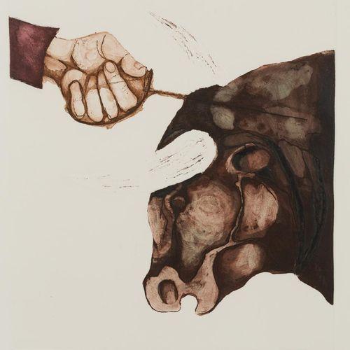 "JORGE LUDUEÑA (Argentina, 1927 2000) Serie ""Sole e morte"" Acquaforte e incisione…"