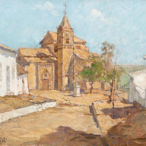 RAFAEL CANTARERO (Sevilla, 1907 1957) Vista della Chiesa di San Jorge (Palos de …