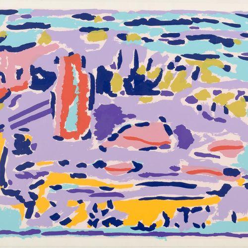 JUAN ANTONIO AGUIRRE (Madrid, 1945 2016) Senza titolo Serigrafia 49 x 64,5 cm Fi…