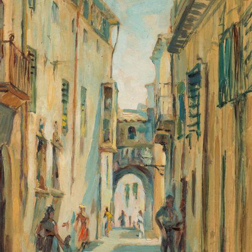 JOSÉ PALOMAR (Sevilla, 1929 2001) Vista dell'Arco dell'Almudaina, Palma di Maior…
