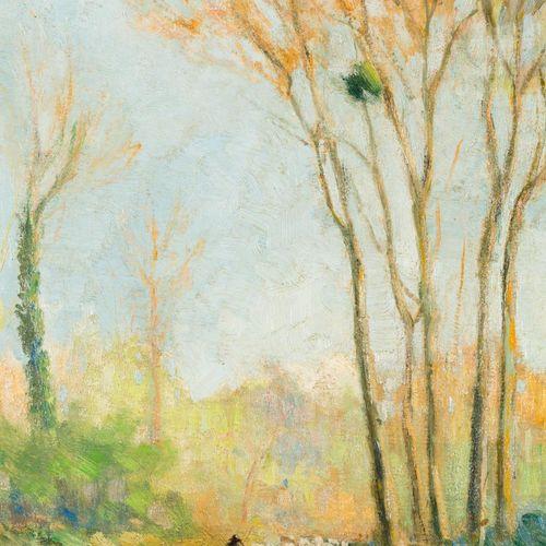 ESCUELA EUROPEA, S. XX Pastore con gregge Olio su táblex 26 x 22 cm Firmato in b…