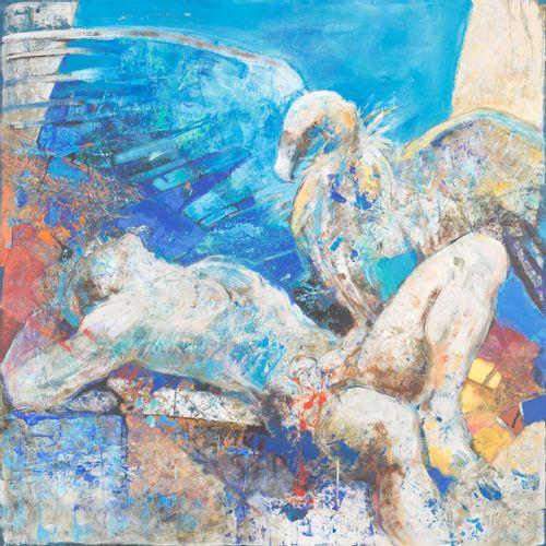 MARÍA TERESA MARTÍN VIVALDI (Granada, 1955) Prometeo Acrilico su táblex 120 x 12…