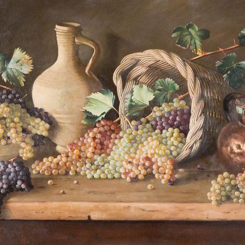 JUAN PADILLA Y LARA (Jerez, 1906 1980) Natura morta con uva Olio su tela 98 x 15…