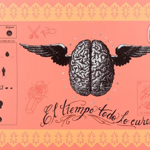MÓNICA LÓPEZ MONTOYA Limpia Serigrafia con intervento manuale su carta 50,5 x 72…
