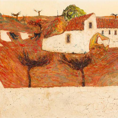 JOAN RIPOLLÉS (1932) Paesaggio rurale Olio su táblex 59 x 99 cm Firmato e datato…