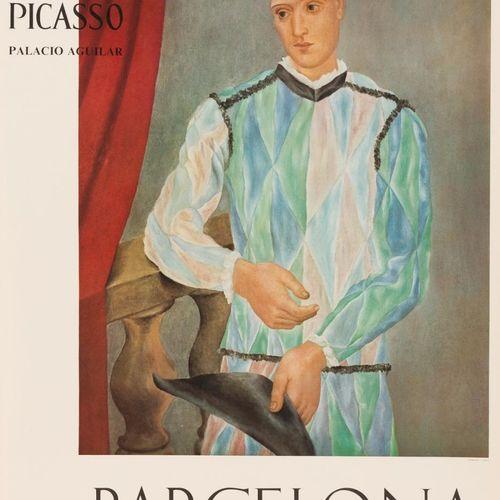 PABLO PICASSO (Málaga, 1881 Mougins, Francia, 1973) Harlequin Offset 76,5 x 54,5…