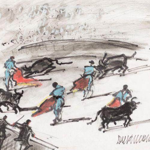 RAFAEL DURANCAMPS I FOLGUERA (Sabadell, 1891 Barcelona, 1979) Scena di corrida D…
