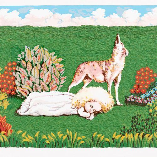 ISABEL VILLAR (Salamanca, 1934) El lobo Serigrafia 24 x 34,5 cm Serigrafia origi…