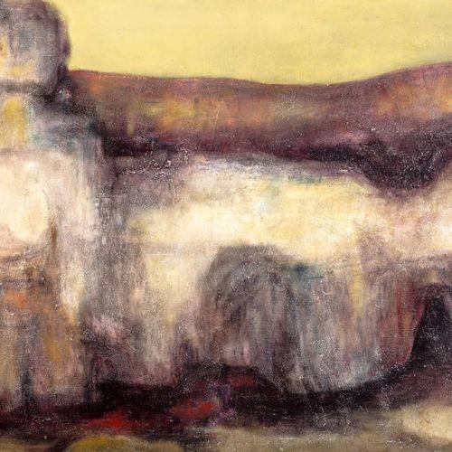 """ESCUELA ESPAÑOLA, S. XX Figure Olio su tela 70 x 69 cm Firmato """"Reca""""."""