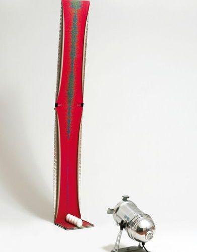Luciano Fabro (1936 2007) Italie Grafico 5 rosso fuoco (2004) Sculpture Installa…