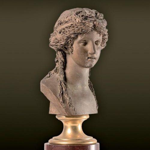 Joseph Charles MARIN (1759 1834) attribué à Tête de jeune bacchante Terre cuite.…
