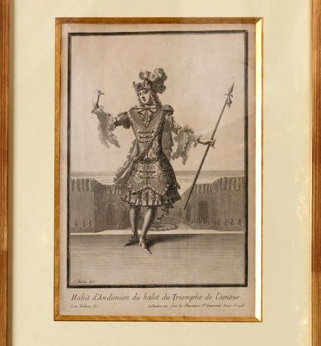 """After Jean BERAIN (C.1660 1711)  """"Costume of Endymion for the ballet The Triumph…"""