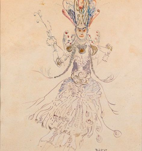 "Léon BAKST (1866 1924)  ""The Firebird""  Watercolour, gouache, and fountain pen, …"