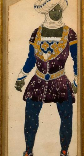 """Léon BAKST (1866 1924)  """"Balthazar, ballet La Légende de Joseph""""  Gouache and pe…"""
