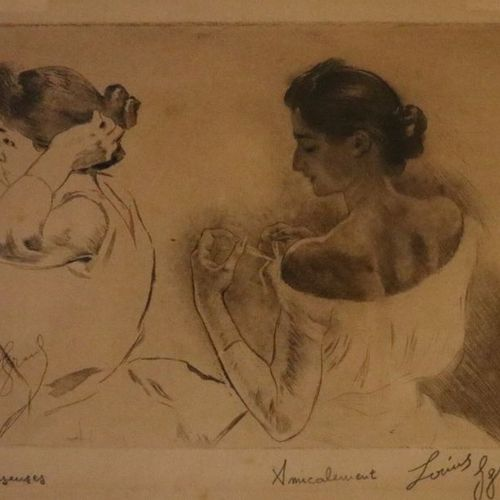 """Louis LEGRAND (1863 1951)  """"Study of dancers""""  Lithography, signed on the lower …"""
