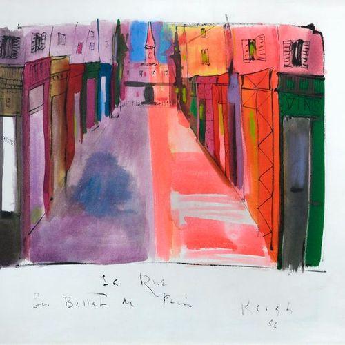 """Tom KEORGH (1921 1980)  """"La Rue, Les Ballets de Paris Roland Petit""""  Encre de ch…"""