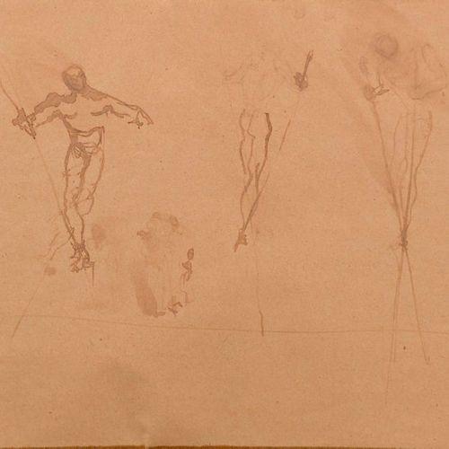 """Christian BENARD (XXe siècle)  """"Esquisse pour Les Forains Ballet de Roland Petit…"""