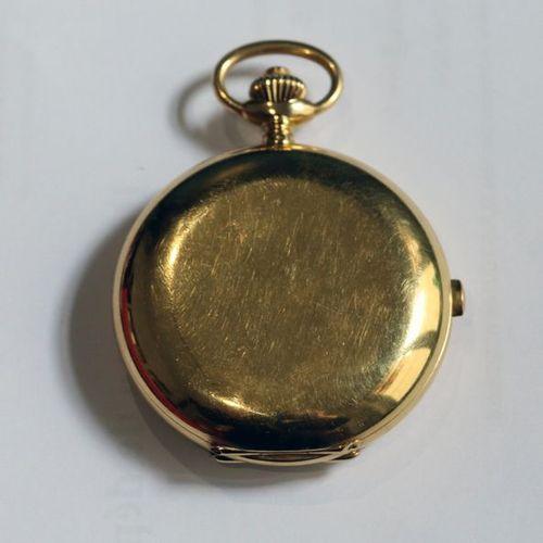 LIP Montre de poche savonnette chronomètre en or (750 millièmes), à double boiti…