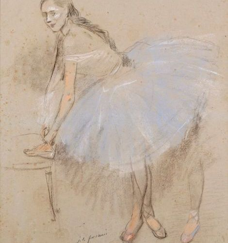 "Jean Louis FORAIN (1852 1931)  ""Ballerina""  Pastel on paper, signed J.L. Forain …"