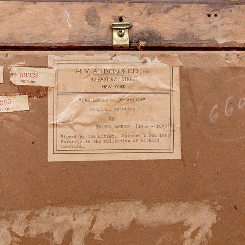 """Ecole de la second moitié du XIXe siècle  """"Les laveuses de Trouville"""" (Six lavan…"""